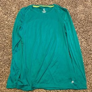 super cute green/turquoise workout shirt